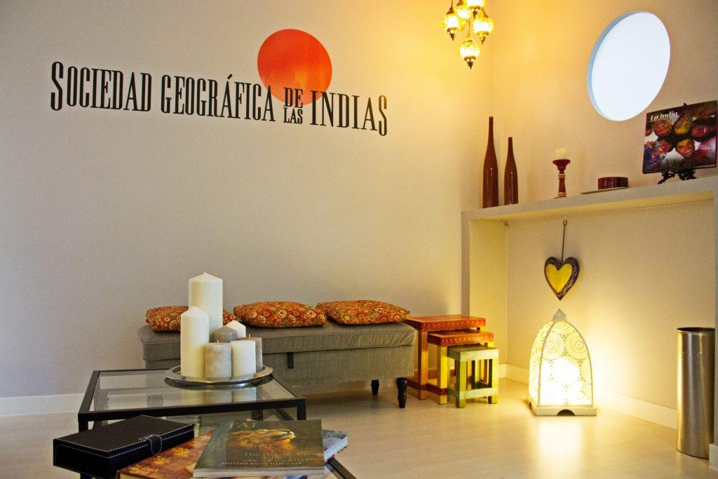 Contacto. Sociedad Geográfica de las Indias. Oficina en Madrid