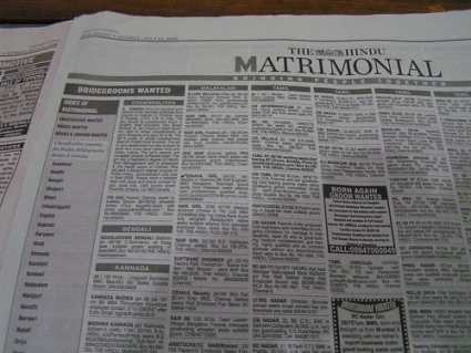Página de anuncios matrimoniales
