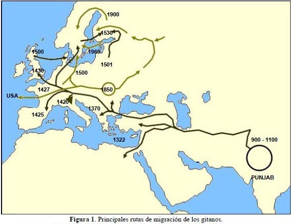 el origen de los gitanos: