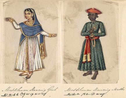 Lámina ilustrando algunas castas en India