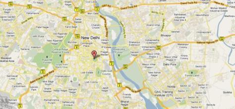 Mapa de Delhi