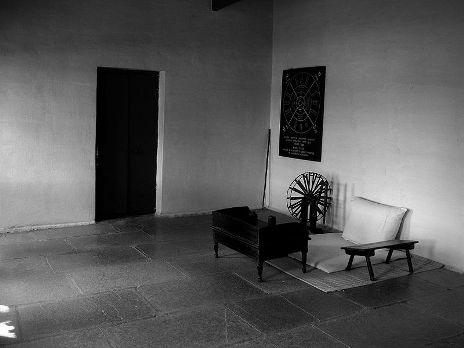 Sala donde Gandhi recibía las visitas