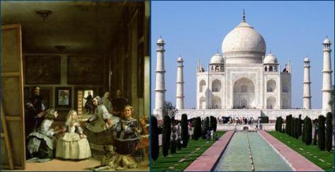 Taj Mahal, contemporary of Las Meninas