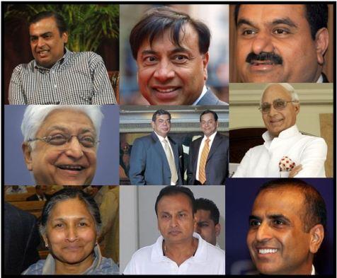 Los 9 indios más multimillonarios