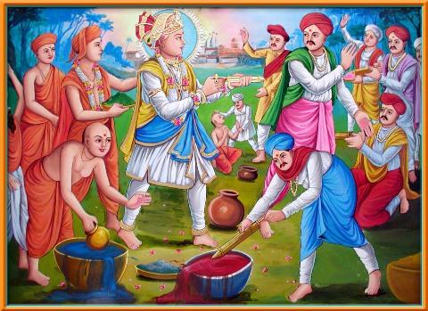 Ilustración del Holi en la antigüedad