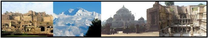 Fuerte Golconda, Parque Nacional de Khangchendzonga, Tumba de Sher Shah Suri, Rani-ki-vav