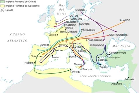 Invasiones bárbaras en el Imperio Romano