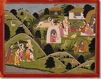 Sita en el ashram de Valmiki