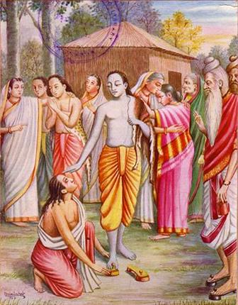 Bharata le pide las sandalias a Rama