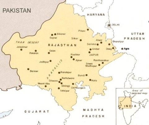mapa rajastan