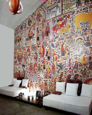 decoración madhubani