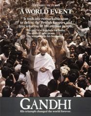 Gandhi, portada de la película