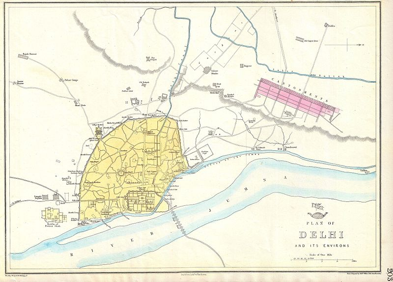old delhi map