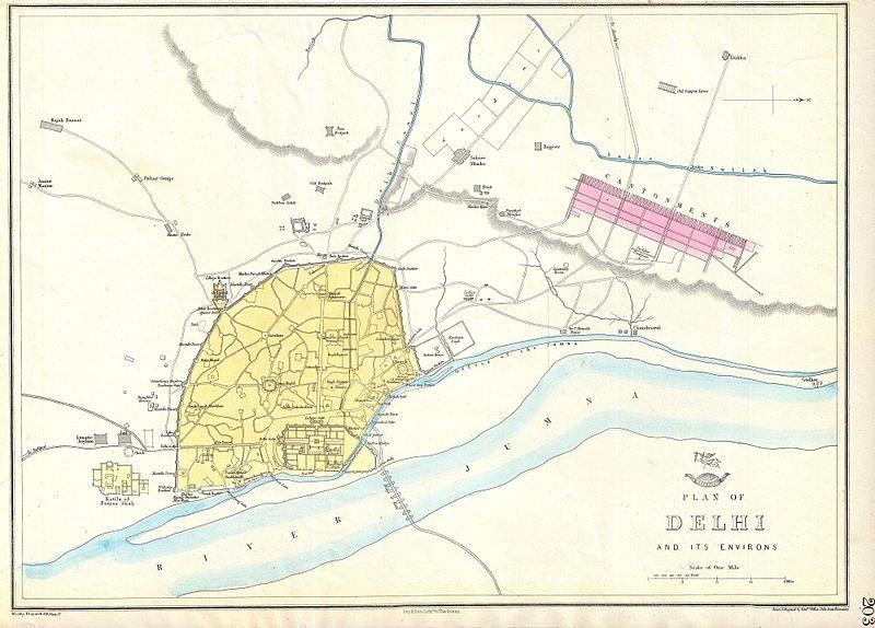 old delhi map