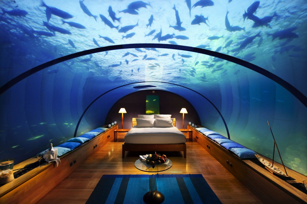 Conrad Maldives Underwater Suite Night
