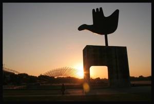 Open hand monument