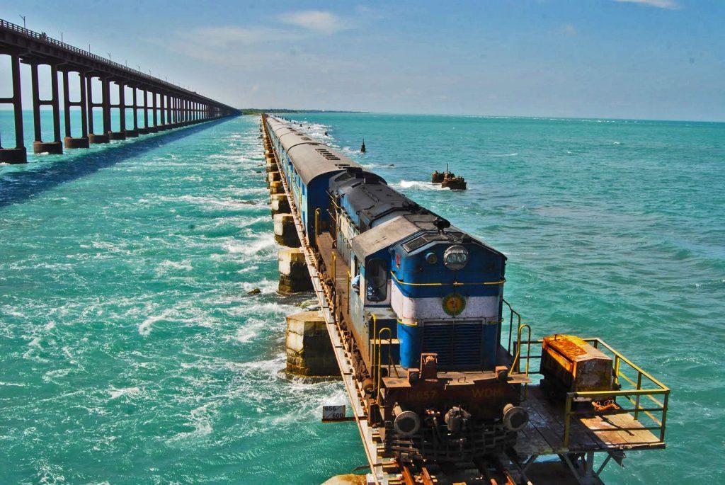 Vista de India desde un tren de lujo