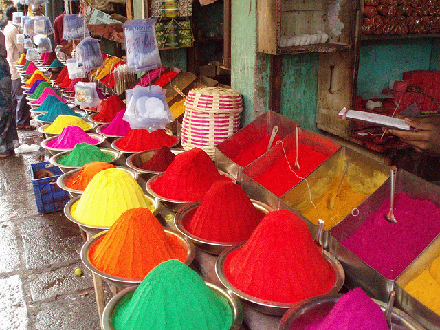 Indian spices, natural dyes