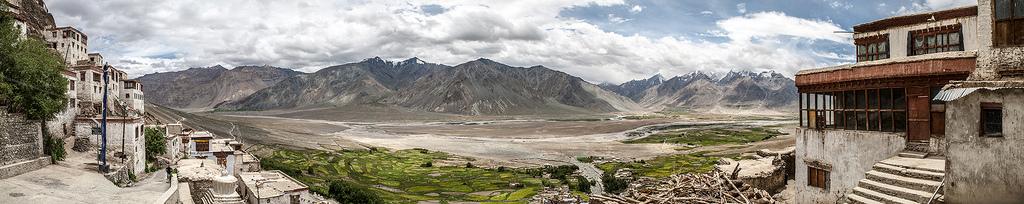 Mountain Landscape - Karsha monastery, Karsha, Zanskar, India