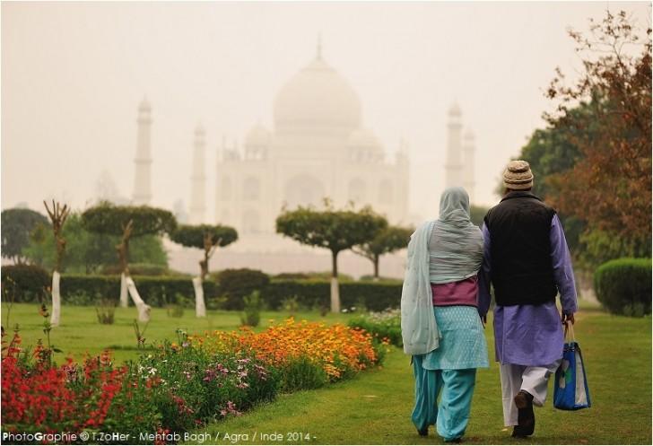 Taj Mahal desde Mehtab Bagh