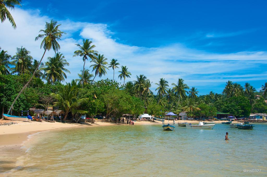 Playa de Unwatuna en Sri Lanka
