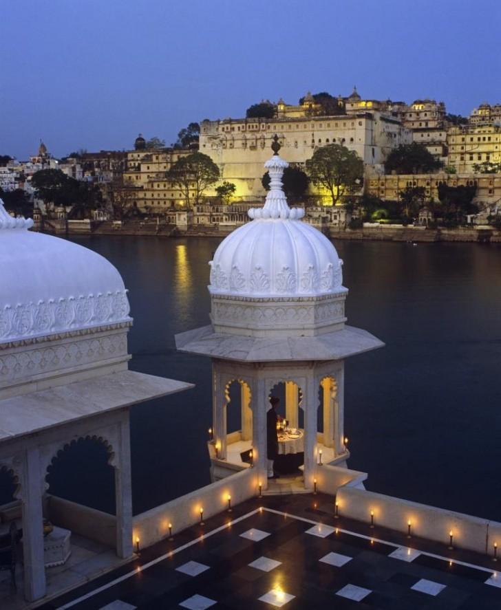 Vistas de ensueño en el Lake Palace de Udaipur (c) Taj Hotels
