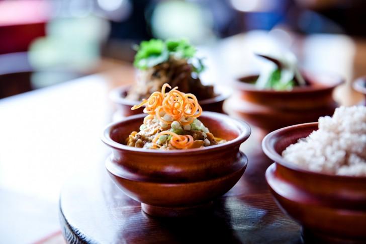 Thali, comer en Bután