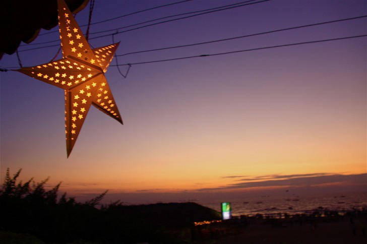 Decoración navideña en Goa