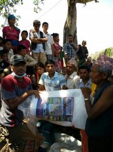 Noticias de Nepal: recibiendo ayuda