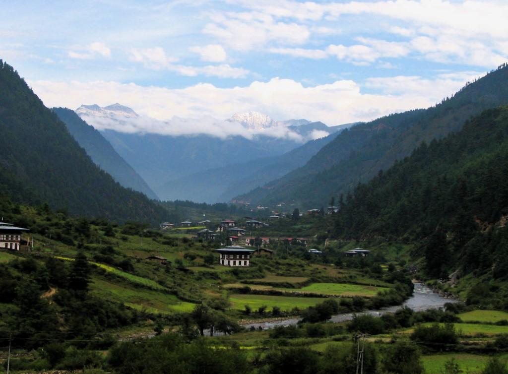 Panorama del Valle del Paro de Bután