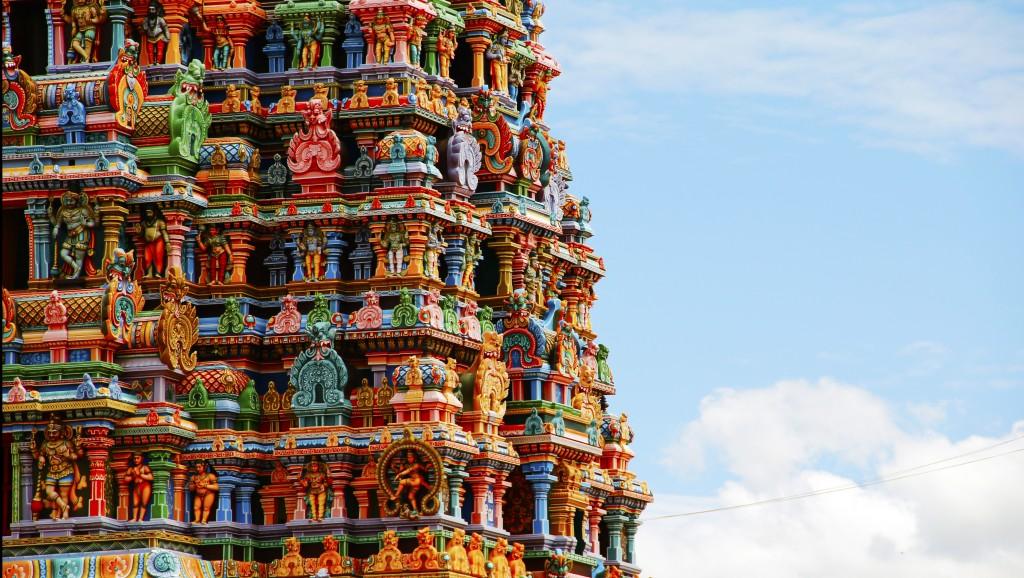 Sur de India: 24 horas en Madurai - Gopuram del templo de Meenakshi