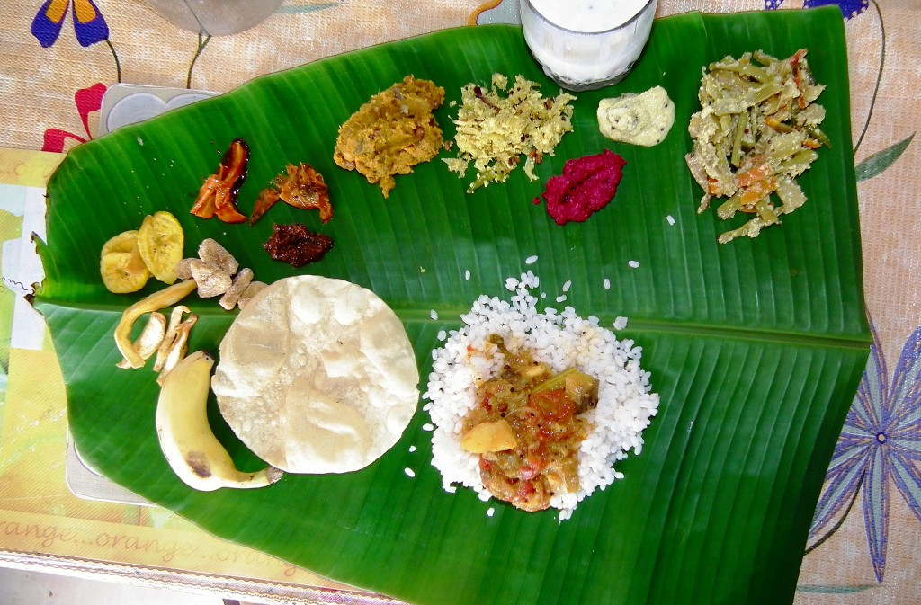 5 platos vegetarianos de la India - Sadya -