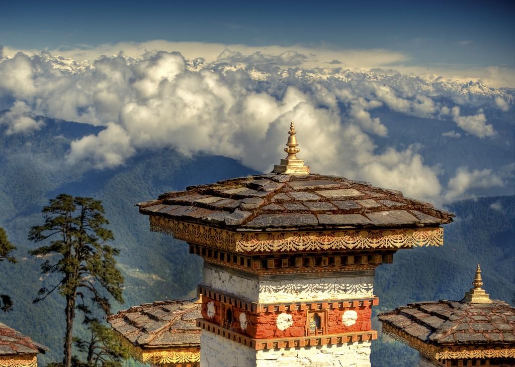 Ecoturismo en Butan - Templo
