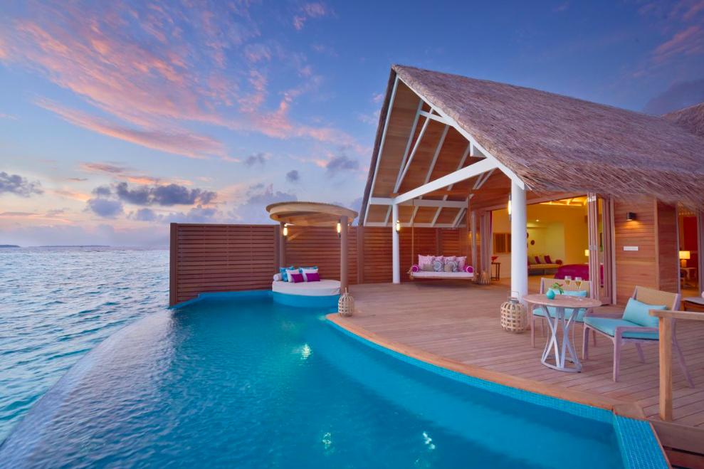 D nde alojarse en maldivas descubre milaidhoo for Hoteles en el agua maldivas