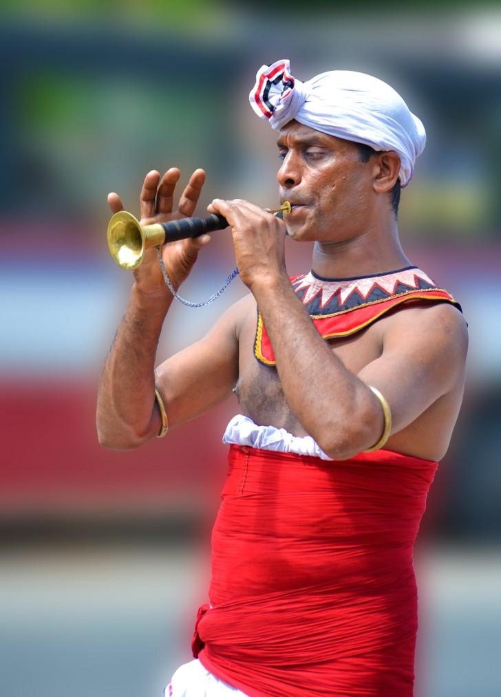 Viajar a Sri Lanka en verano. Desfile en Kandy