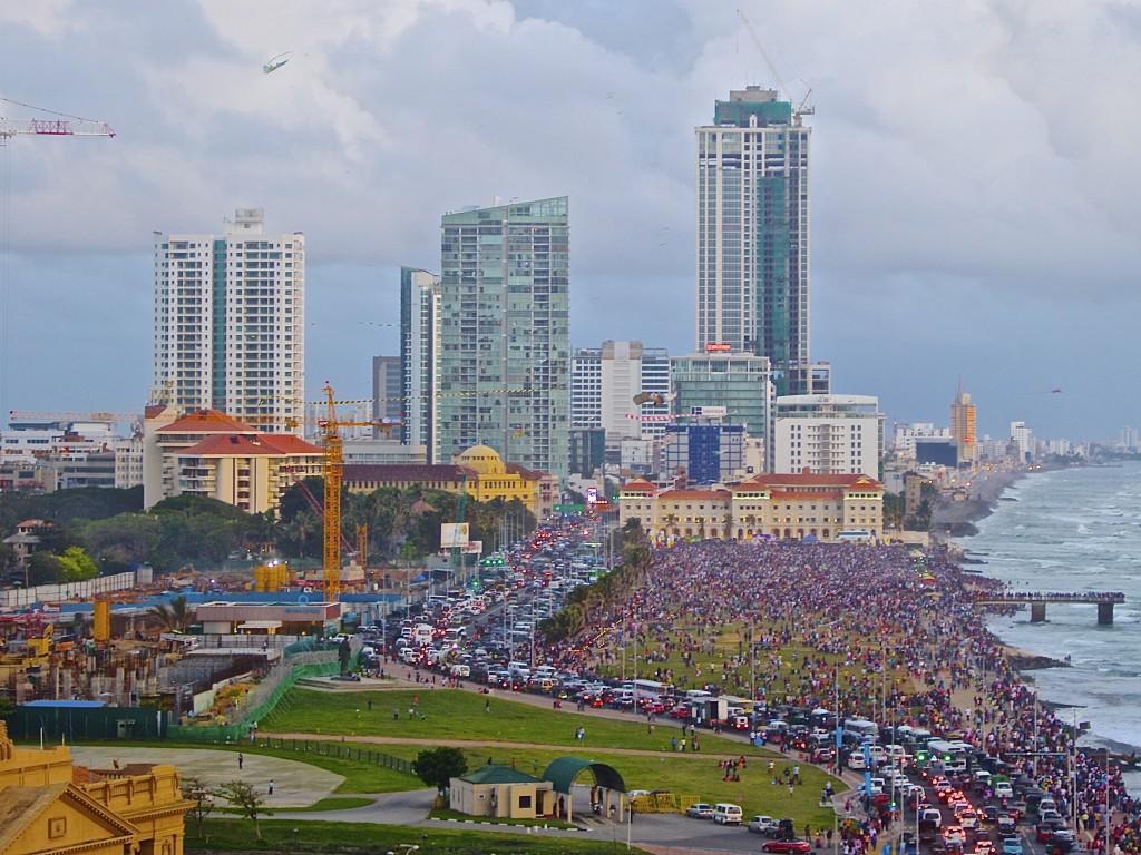 Ciudad de Colombo - Galle Face Green en un festival de cometas