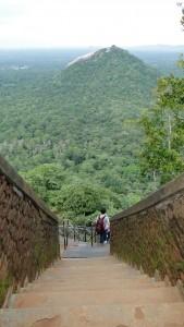 Pidurangala Sri Lanka - Escaleras