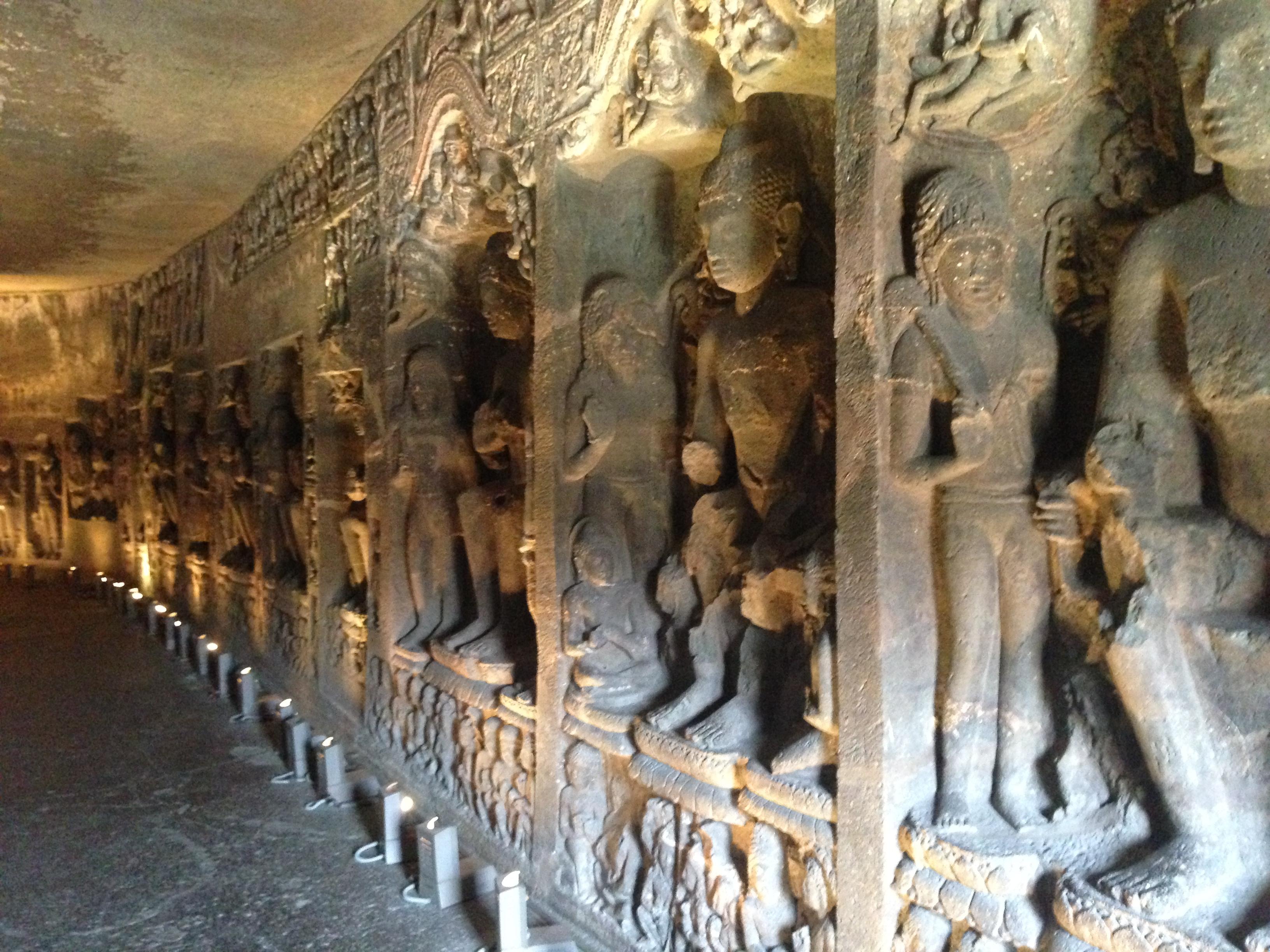 Ajanta Caves - Sculptures