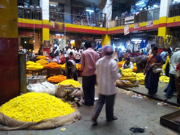 Mercado de las flores de Bangalore