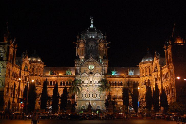 Ciudad de Mumbai - Estacion de tren