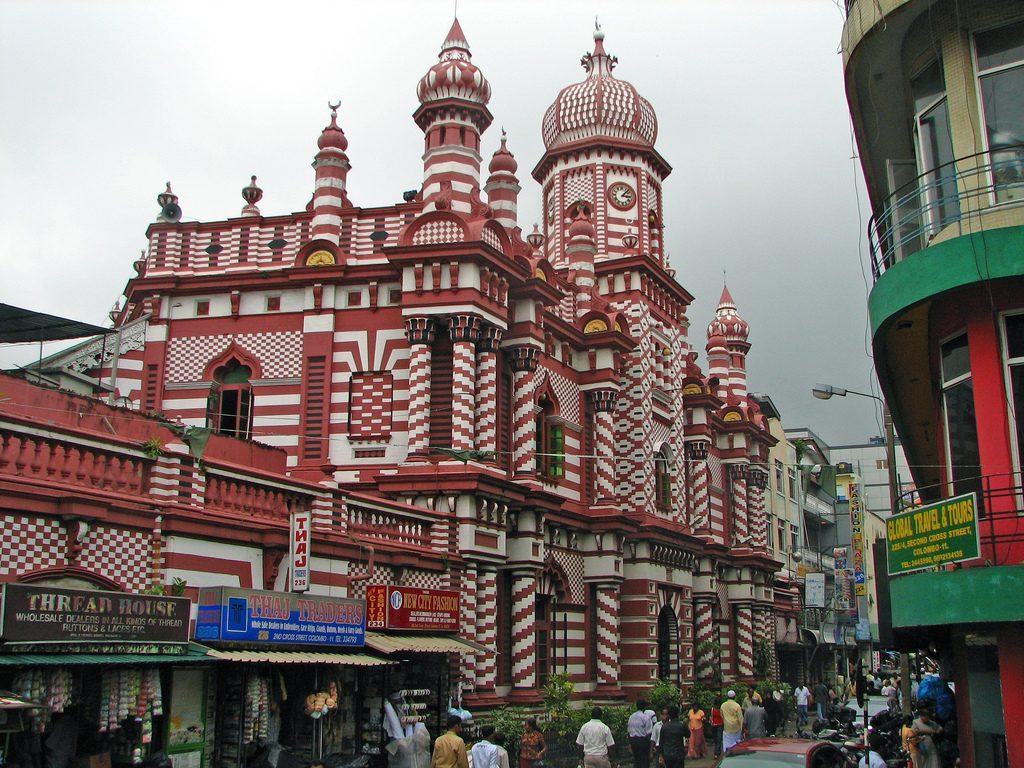 que ver en Colombo- Mezquita Jami Ul-Alfar