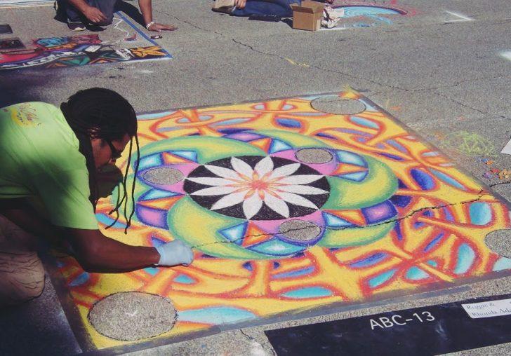 Mujer Pintando Mandalas