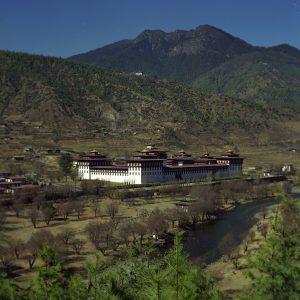 Monumentos en Timbu - Dzong Tashichoe