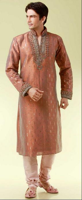 Cómo visten los hombres en la India-churidar-kurta