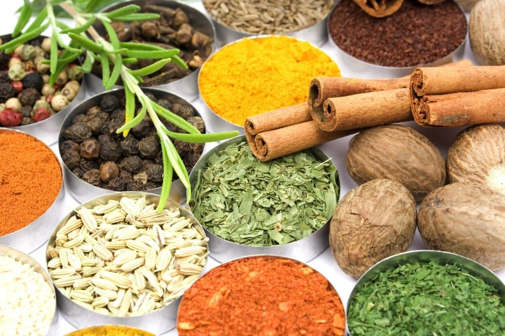 Ingredients and species typical of Indian cuisine