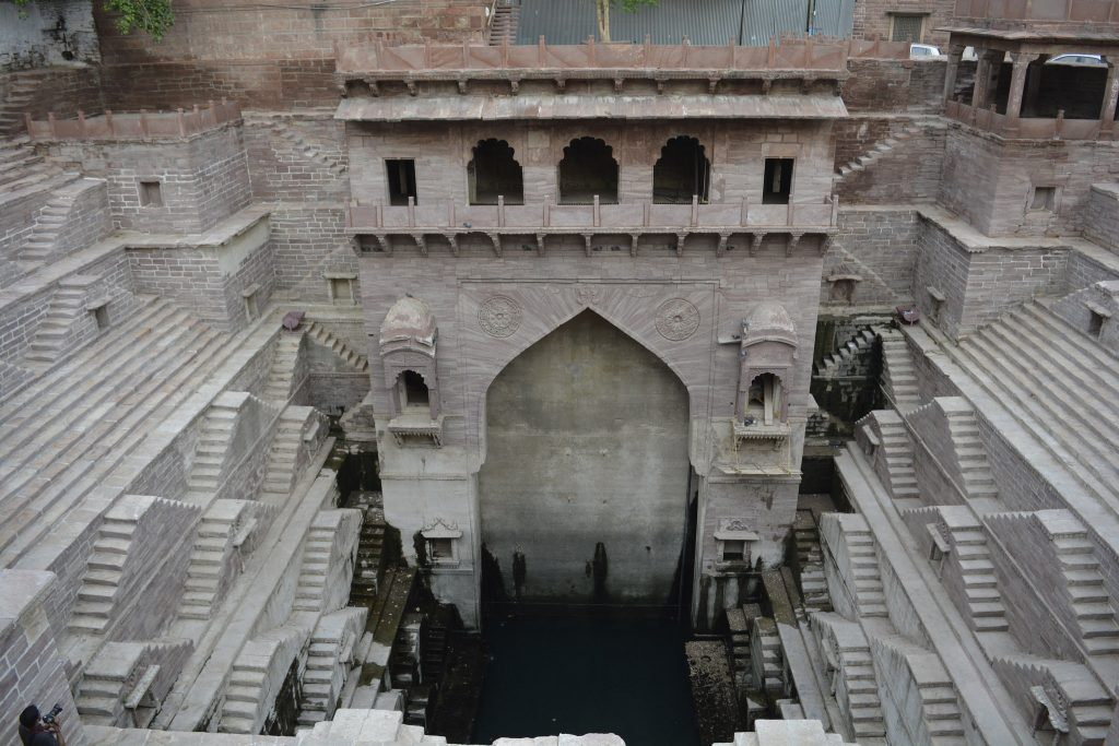 The baori of Jodhpur, one of the most famous in Rajasthan and India