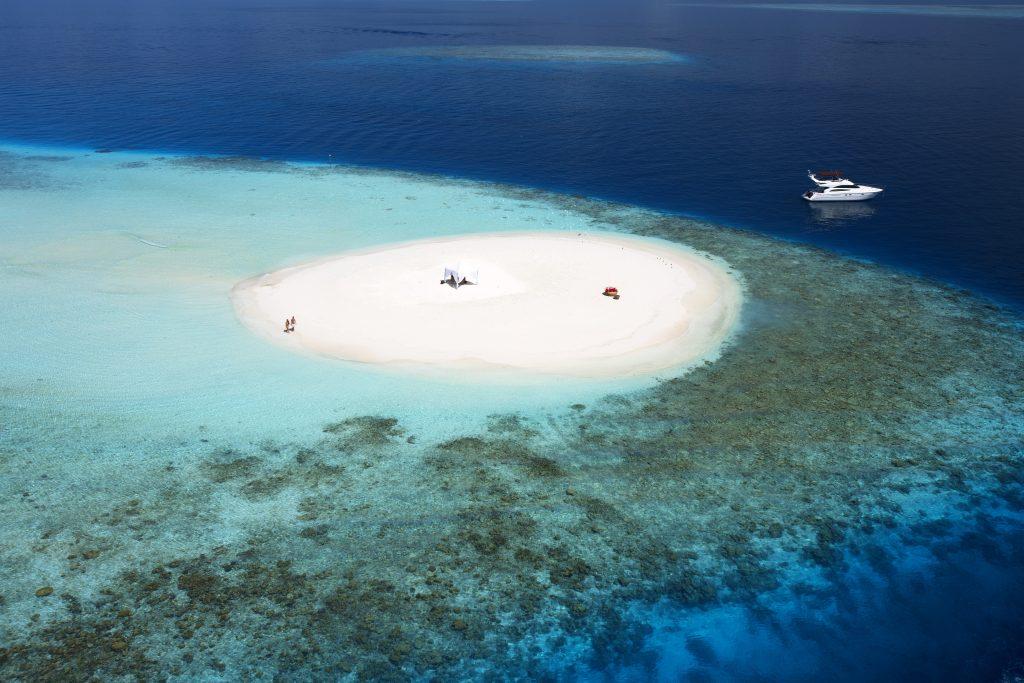 Sandbank en Baros Maldives