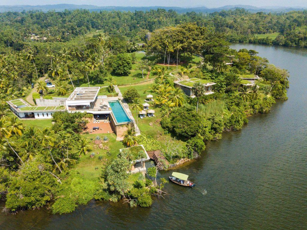 Resort Tri Lanka en Sri Lanka fotografiado desde el aire