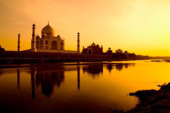 Viewpoint of the Taj Mahal.  Exquisite India