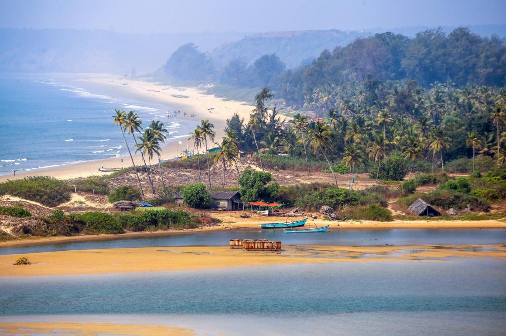 Playas de Goa en India